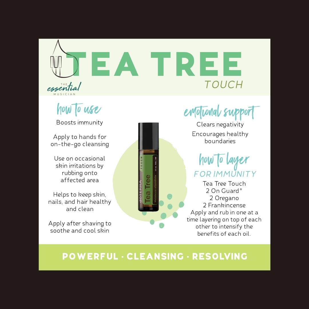 Tea Tree Touch uses